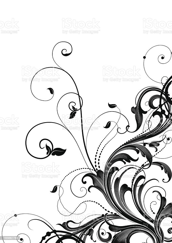 Leafy Scrollwork Corner royalty-free leafy scrollwork corner stock vector art & more images of 2000-2009