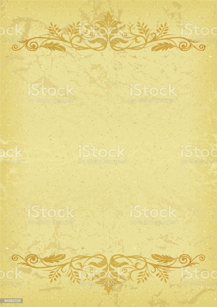 Leafy Title Rules royalty-free stock vector art