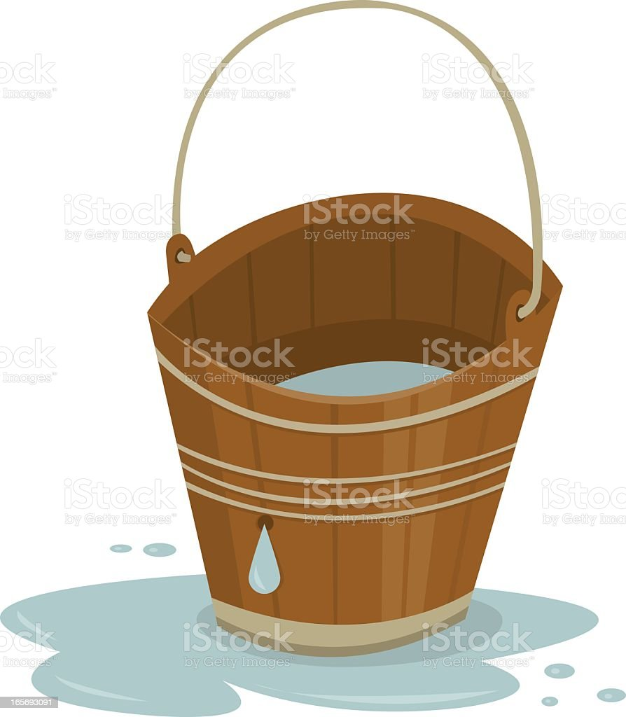 Leaky Bucket vector art illustration