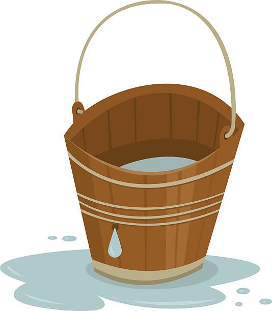 Leaky Bucket vector art illustration