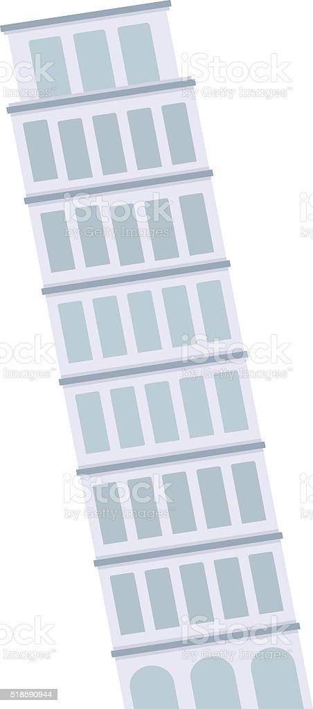 Leaning Tower of Pisa architecture landmark building vector vector art illustration