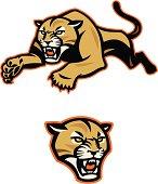 Leaping Cougar Mascot