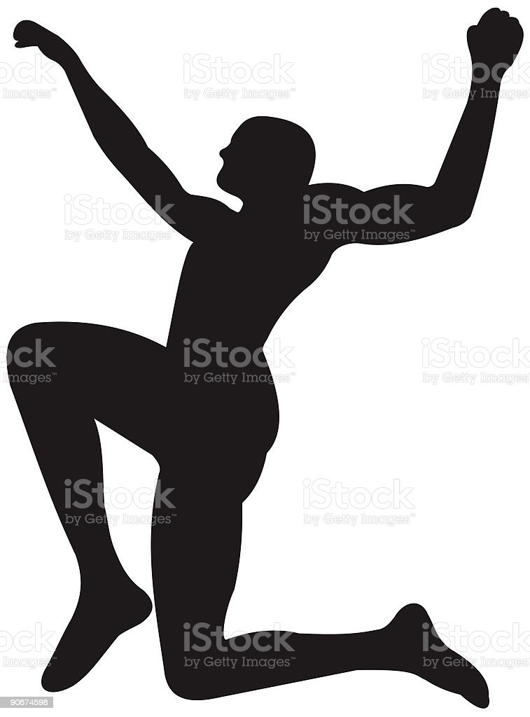 Leaping royalty-free stock vector art