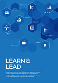 Learn and Lead. Brochure Template Layout, Cover Design
