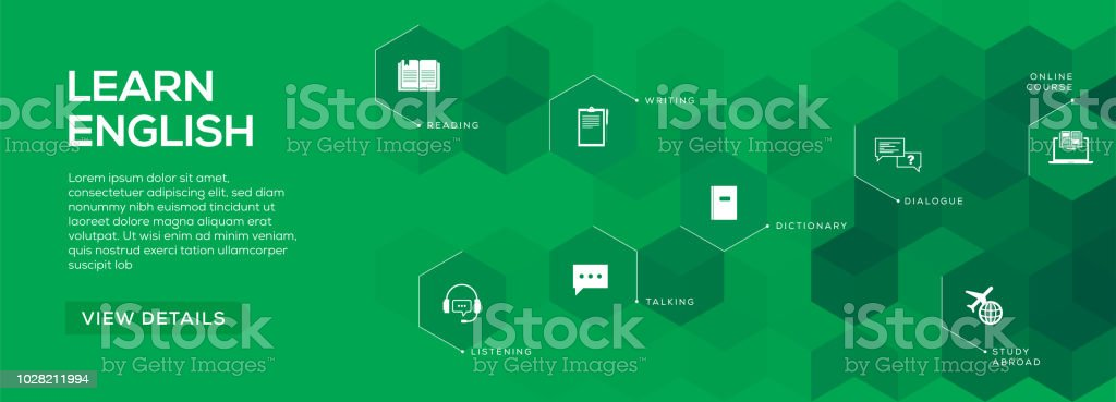 Learn English Banner Design Stock Illustration Download Image Now Istock