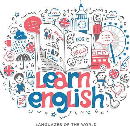 Learn English Concept Illustration Stock Illustration ...