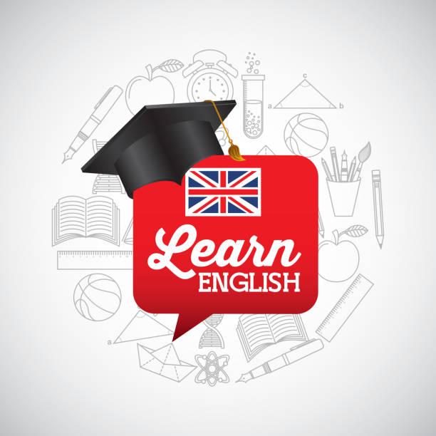 lernen englisch design - englischlernende stock-grafiken, -clipart, -cartoons und -symbole