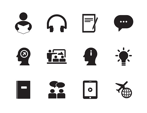 Learn English Icon Set