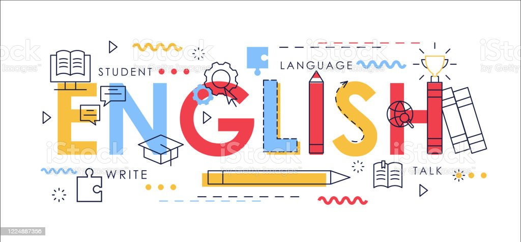Learn English Thin Line Vector Illustration For Website ...
