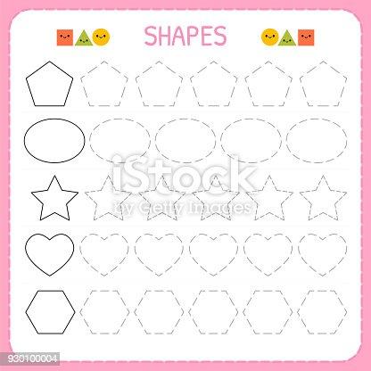 Ilustración de Aprender Las Formas Y Figuras Geométricas Hoja De ...