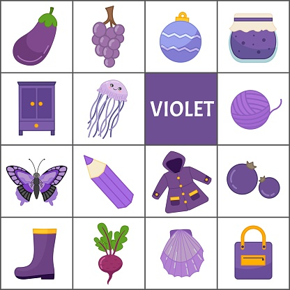 Learn the primary colors. Violet.