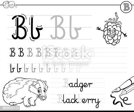 Ilustración de Aprender A Escribir El Libro De La Letra B Para Niños ...