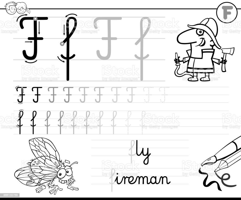 Aprender A Escribir El Libro De La Letra F Para Niños - Arte ...