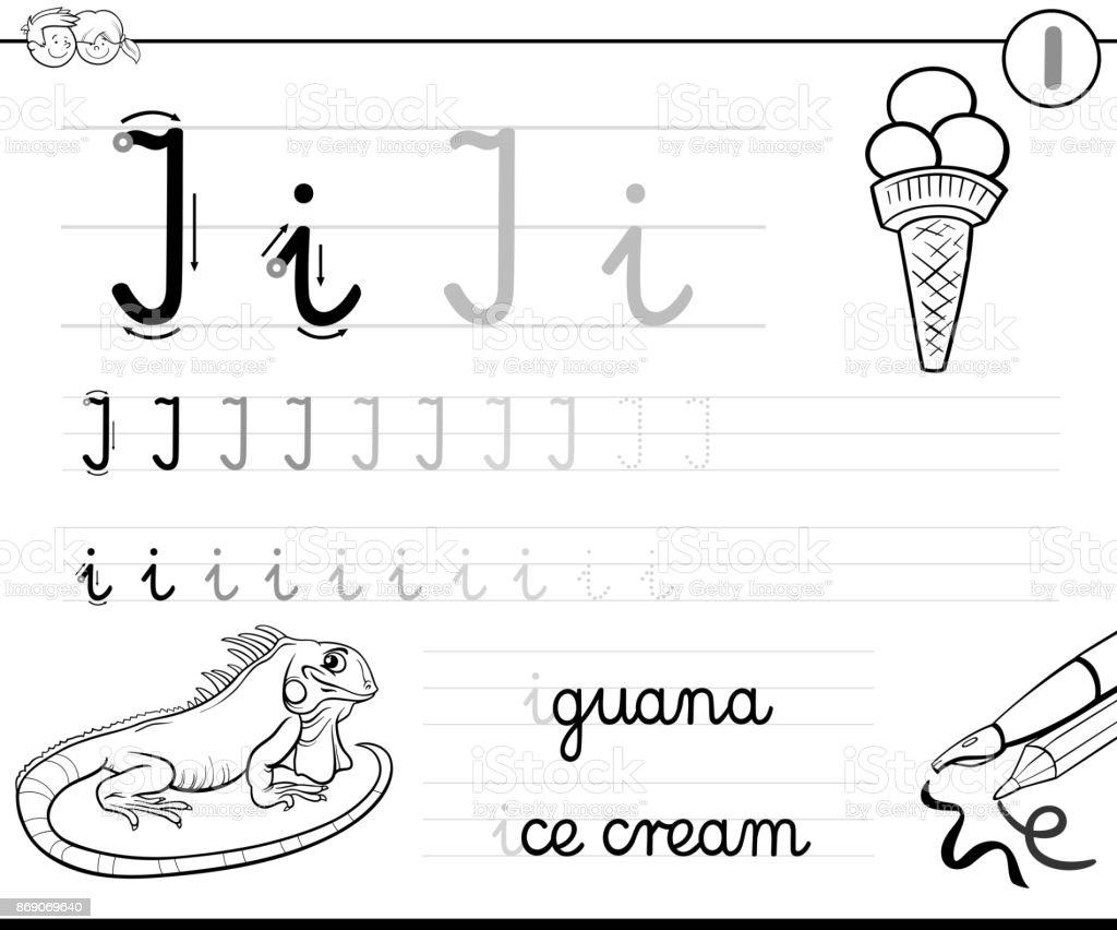 Ilustración de Aprender A Escribir Letra I Libro Para Niños y más ...