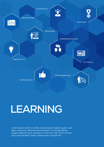 Learning. Brochure Template Layout, Cover Design
