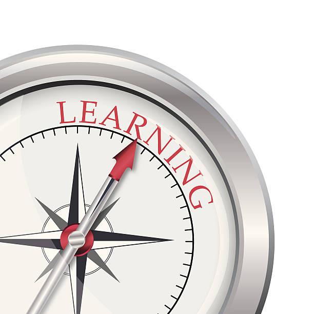 ilustrações, clipart, desenhos animados e ícones de direção a bússola de aprendizagem - orientador escolar