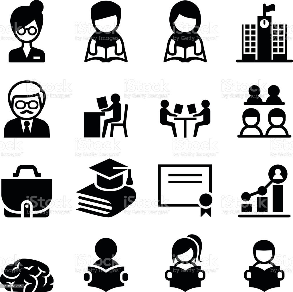 Lernen Bildung Symbole Stock Vektor Art und mehr Bilder von ...