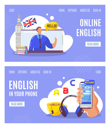 Learning english language online with teacher, education in your
