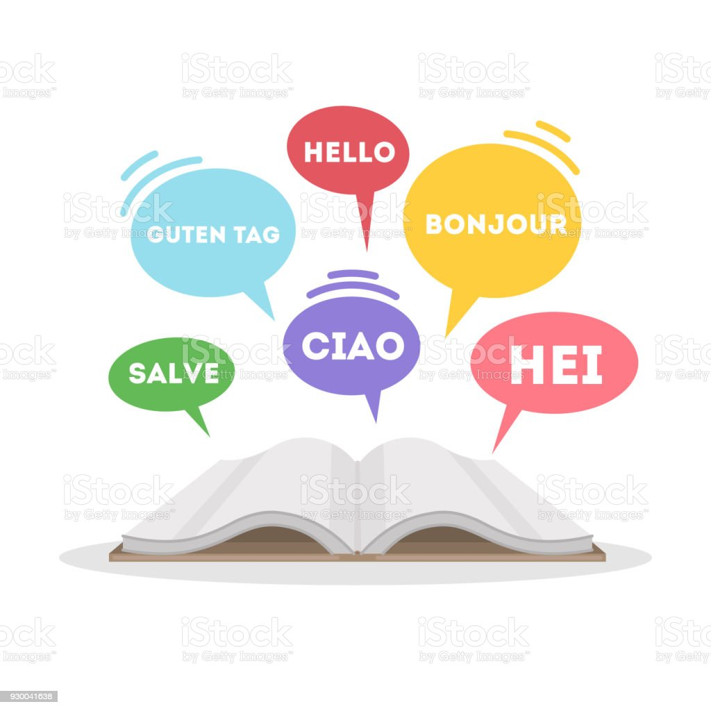 concept de l'apprentissage des langues. - Illustration vectorielle