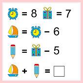 Lernen Von Mathematik Aufgaben Für Die Addition Für Kinder Im ...