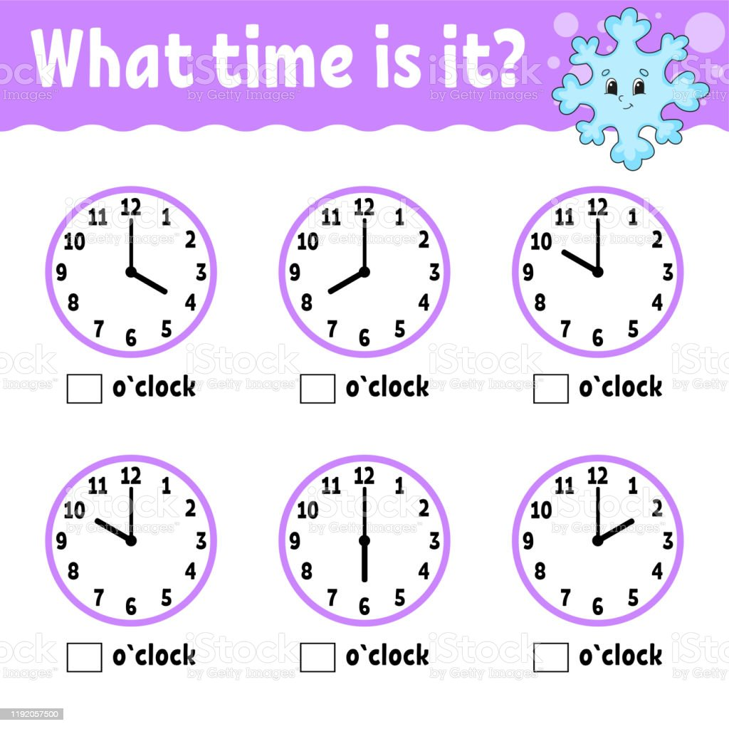 - Learning Time On The Clock Educational Activity Worksheet For Kids