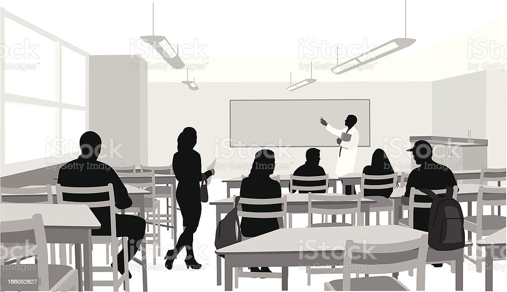 Learning Vector Silhouette vector art illustration