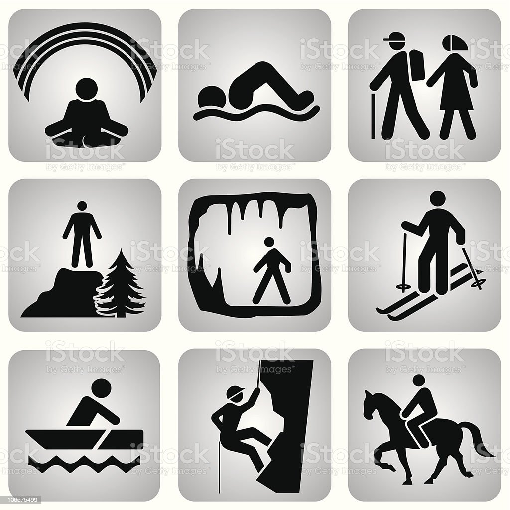 leasure_icons royalty-free leasureicons stock vector art & more images of canoeing