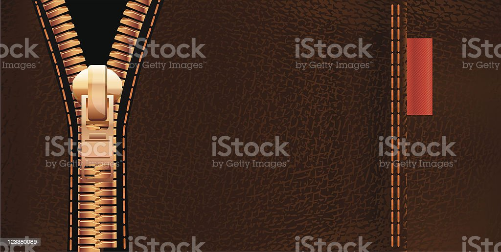 Leather and zipper royalty-free stock vector art