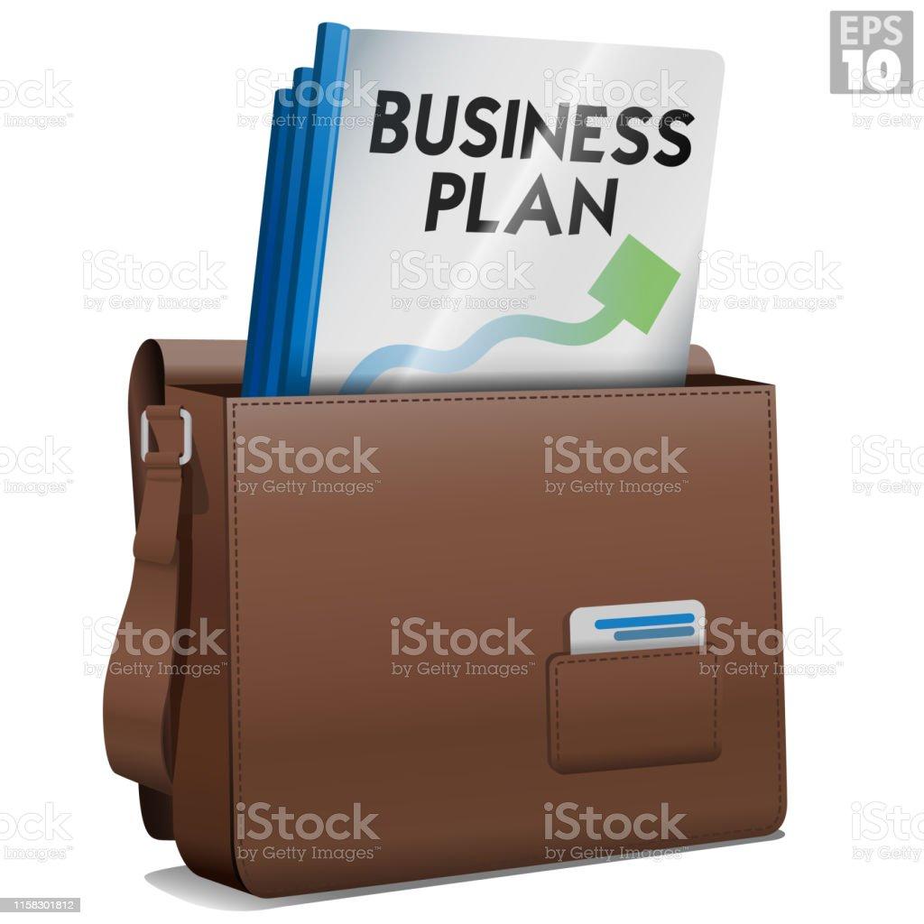 Lederanhang Aktentasche Von Unternehmer Mit Gebundenen