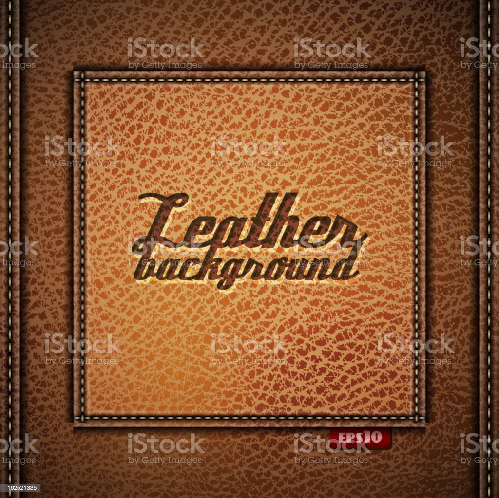 Leather background royalty-free stock vector art