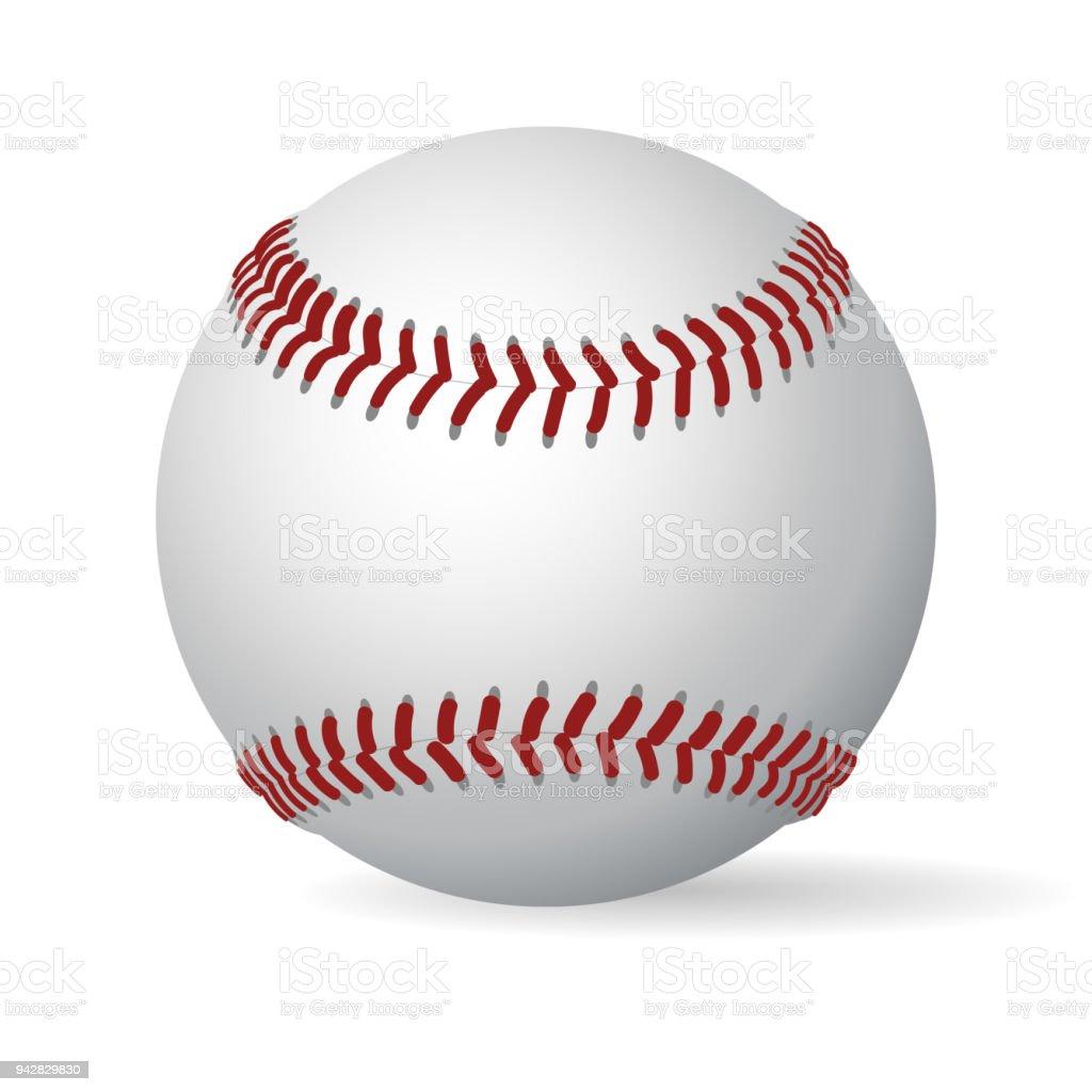 Balle de baseball en cuir. Vector - Illustration vectorielle