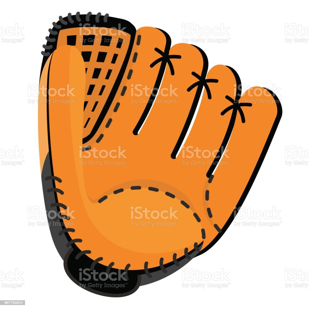 royalty free baseball glove clip art vector images