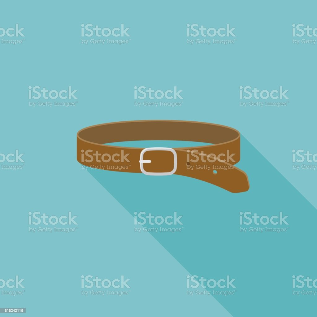 Leather Belt icon vector art illustration