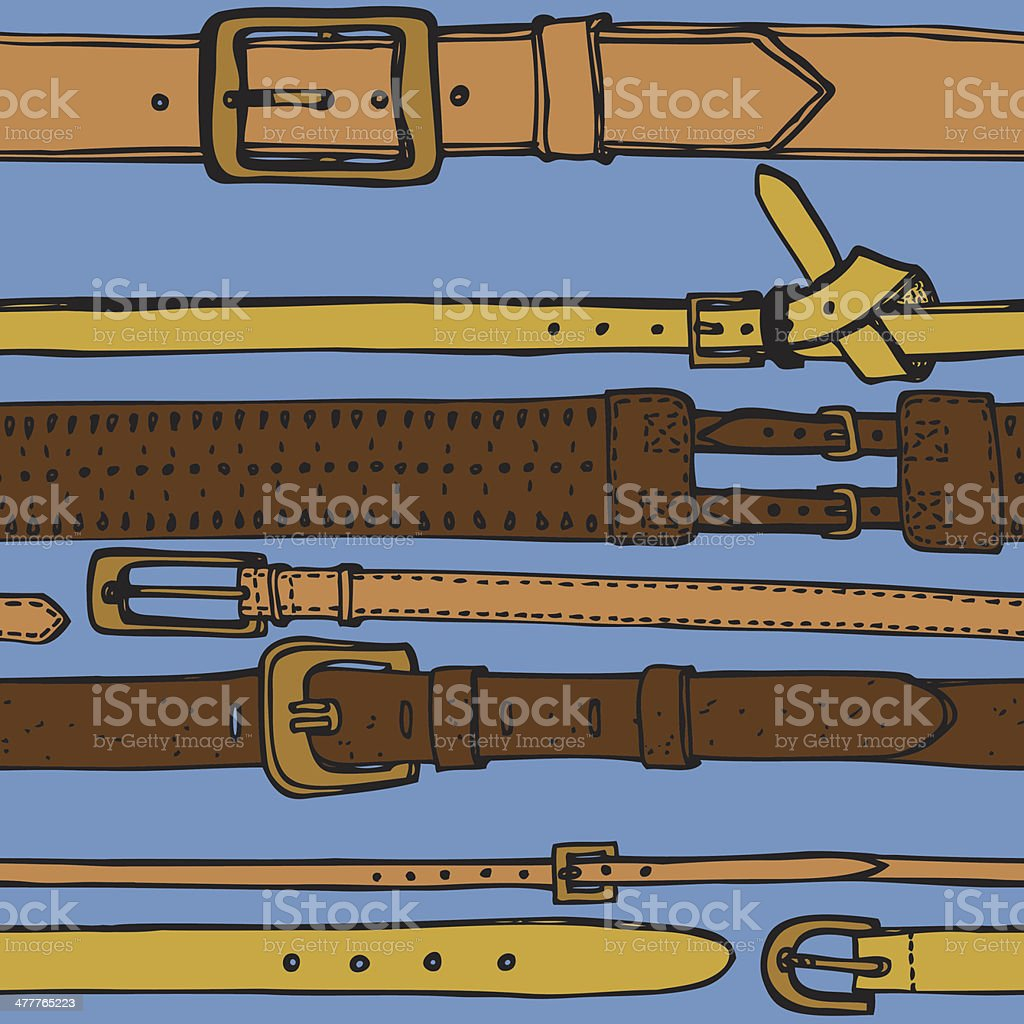 leather belts seamless pattern vector art illustration