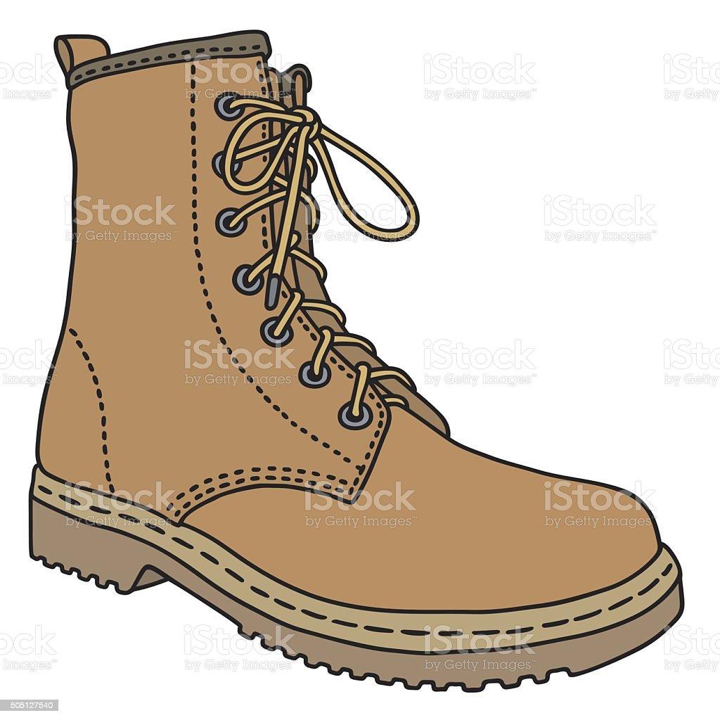 Leather boot vector art illustration