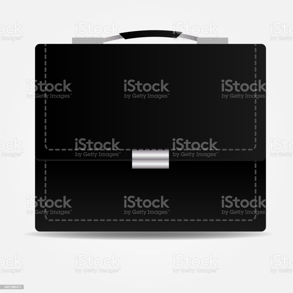 Leather brief case icon.Vector illustration royalty-free stock vector art