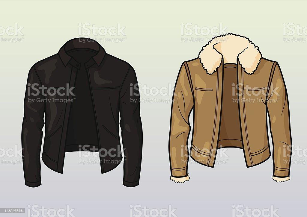 Leather jackets vector art illustration