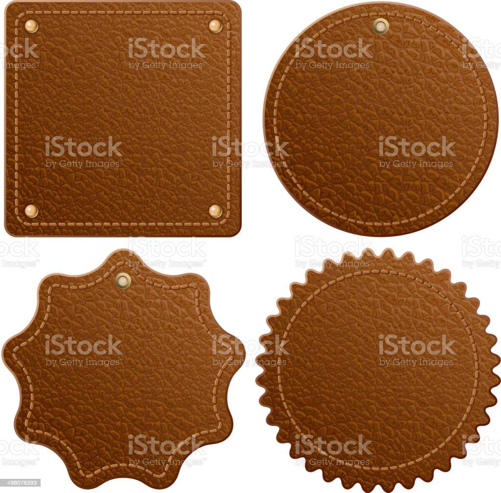 Leather label vector art illustration