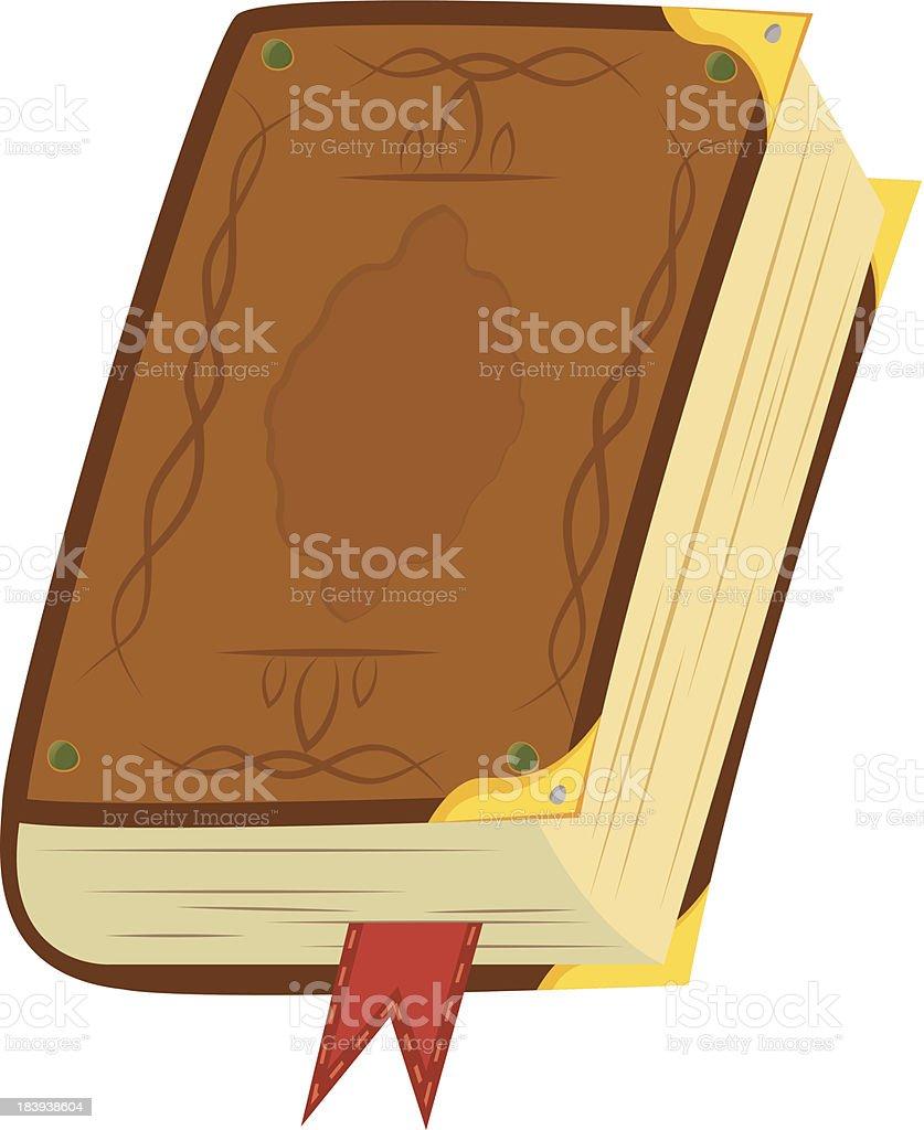 Leather Magic Book vector art illustration