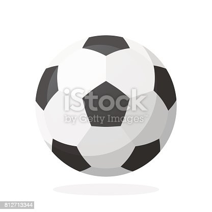 istock Leather soccer ball 812713344