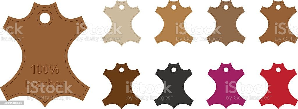 Leather Tags vector art illustration