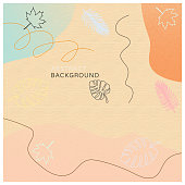 leaves art backgroundvector stock illustration with soft color