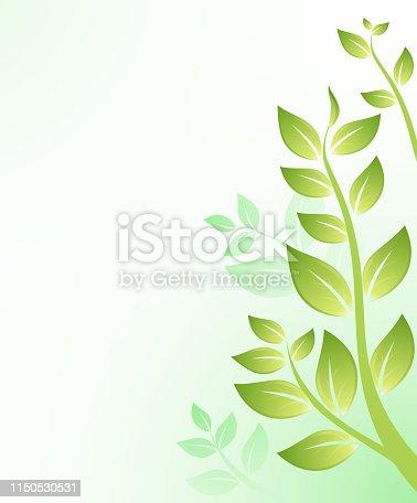 lush foliage design background