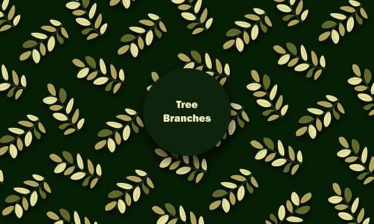 Leaves classic pattern stock illustration