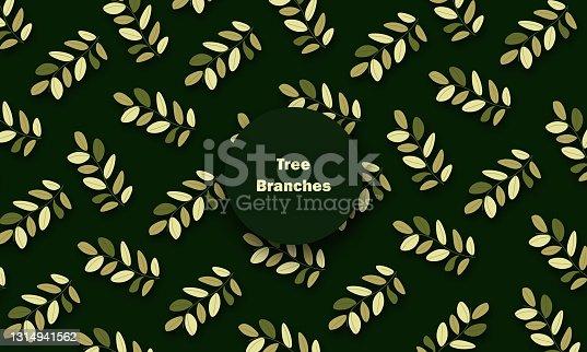 istock Leaves classic pattern stock illustration 1314941562
