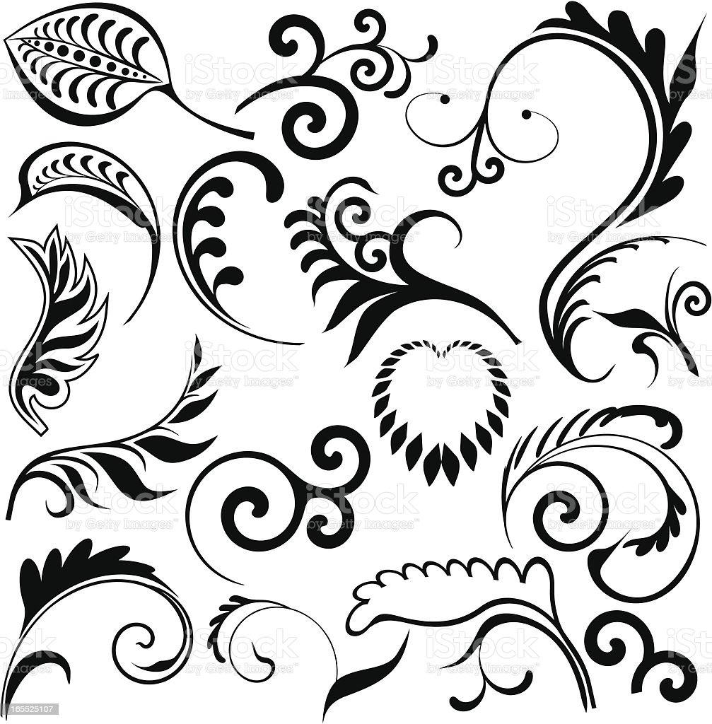 Leaves design royalty-free stock vector art