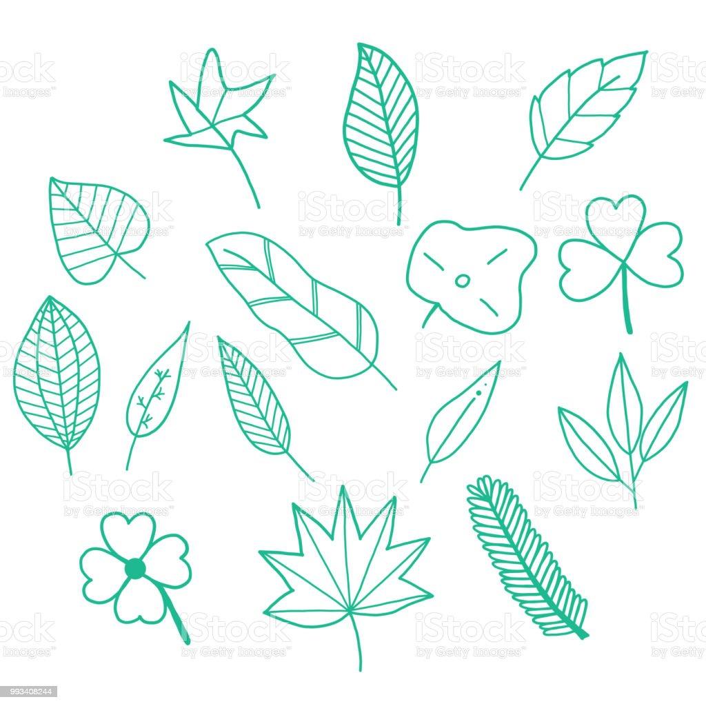 Leaves Doodle Set Stock Illustration Download Image Now Istock