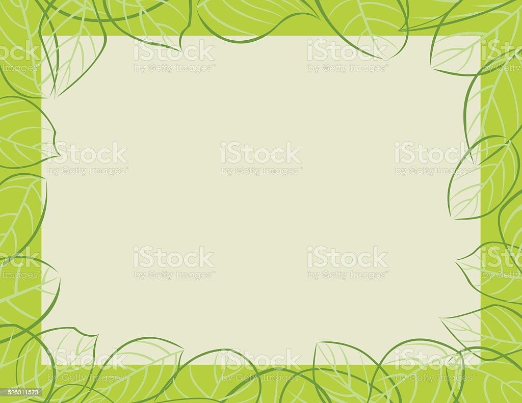 Leaves Frame Background Cadre Orne De Feuilles Stock Illustration Download Image Now Istock