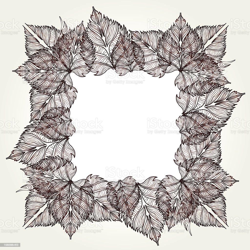 leaves frame royalty-free stock vector art