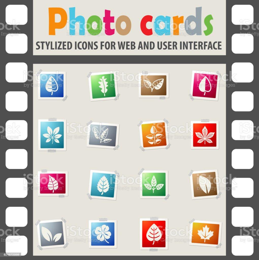leaves icon set leaves icon set – cliparts vectoriels et plus d'images de botanique libre de droits